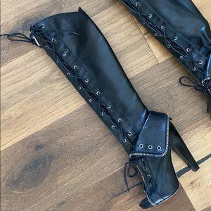 Alexander Wang stealth zipper cuff boots US 6